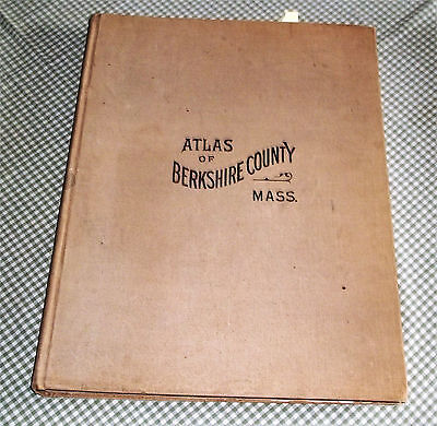 Very Large 1904 Berkshire County Massachusetts Atlas W/hand Colored Plates-Comp.