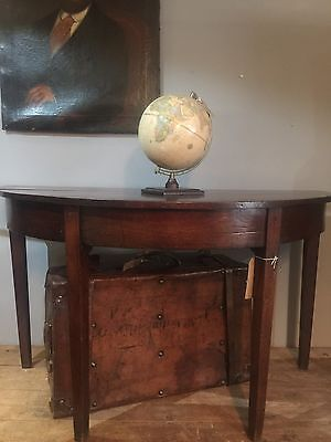 Georgian Demi Lune Side Table In Mahogany Country House Furniture