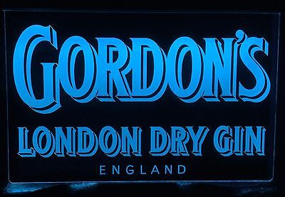 Gordons London Dry Gin LED Remote Control Edgelit Sign,Bar,Mancave,Light,Gift