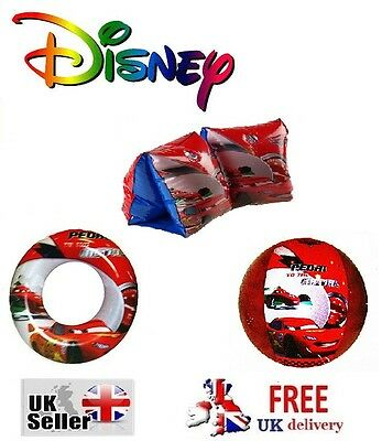 Disney Cars Inflatable Swim Ring Armbands Beach Ball Swimming Aid Kids Blow up
