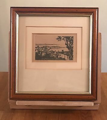 Wonderful Antique Pencil Drawing Of Stonehaven (View From New Street)