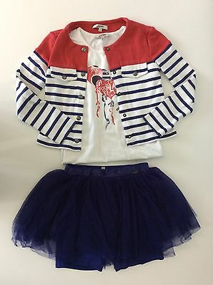 junior gaultier 3 Piece Outfit Set Skirt, Top, Hoodie Age 8 Years