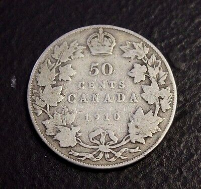 1910 50 cents Canada About VG