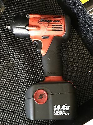 Snap On 14.4v 3/8 Battery Impact Gun With Batteries And Charger