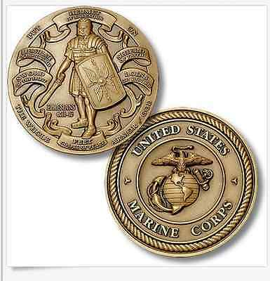 U.S. Marine Corps / Armor of God - USMC High Relief Challenge Coin