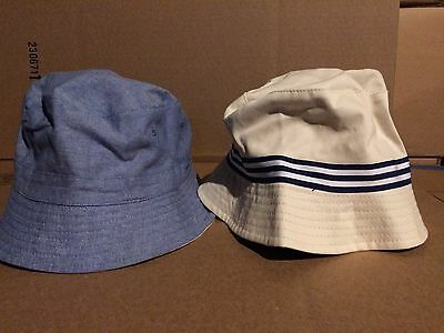 091e3ef19 Men's Reversible Twill To Chambray Bucket Hat Size M/L Lot Of 2 Hats