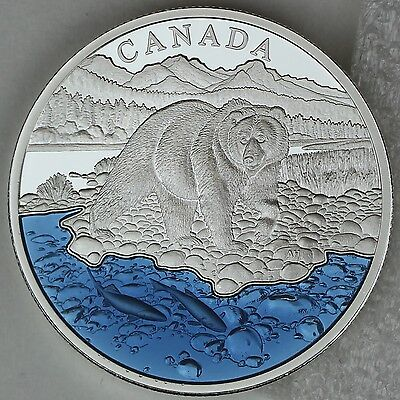 2017 $20 Grizzly Bear with Blue Enamel EXCLUSIVE Masters Club Coin Series 1 oz