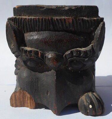 BeautifulWOOD GARUDA FACE NEPAL 19th Century or HEarly No RESERVE!!