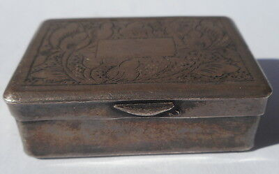 RARE OLD!! Silver Oppium Box 19th century China /Tibet No RESERVE!!
