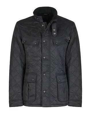 Nearly New BARBOUR INTL. Men's ARIEL POLARQUILT Black JACKET Size Large