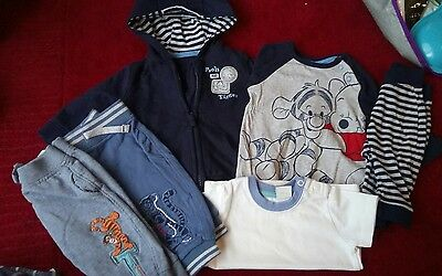 baby boy outfit bundle 0-3 Disney winnie the pooh and tigger