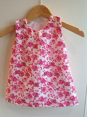 New BNWT 3-6 months pink floral baby girl dress summer