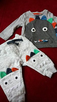 0-3 baby boy monster outfit