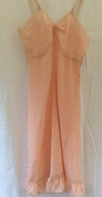 Vintage Silk and Lace Pink Lingerie Slip Nightie Nightdress