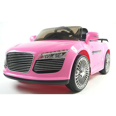 Audi Style 12v Electric Kids Ride on Car with Remote - Pink