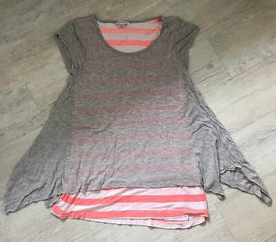 Mamas And Papas Maternity Layered T-shirt Top Size 10