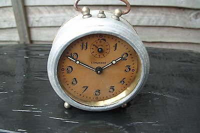 Vintage Alarm  Clock  Conquest  Made In France