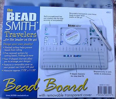 Traveler's Bead Board with Transparent Lid by Beadsmith Travellers board