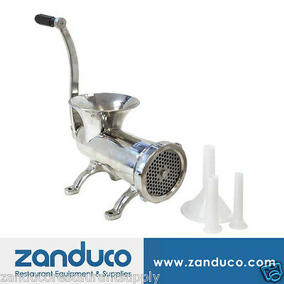 Omcan #32 4.8 mm Commercial Stainless Steel Manual Meat Grinder
