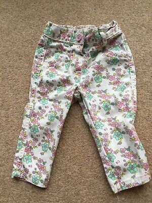 Girls Floral Jeans . Baby 6-9 Months Pretty