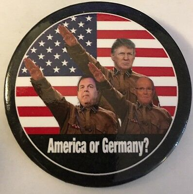 "2 1/4"" Anti-Trump ""America or Germany?"" Political Pinback Button"