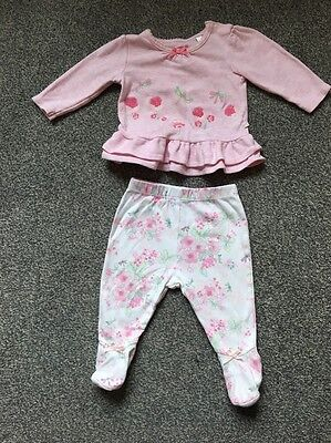 Bhs Girls Top And Leggings Outfit Age 0-3 Mo