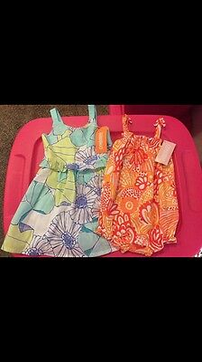 Nwt Gymboree Spring summer Blue Dress and Orange floral outfit Size 6-12 Months
