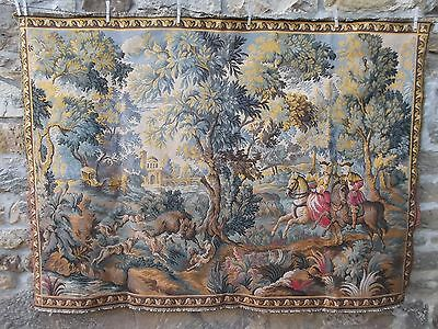 French  wall hanging large tapestry beautifully detailed vintage