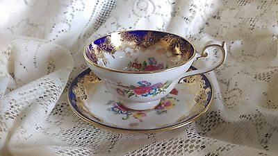 Elegant Hammersley & Co. Vintage Tea Cup and Saucer - MADE IN ENGLAND