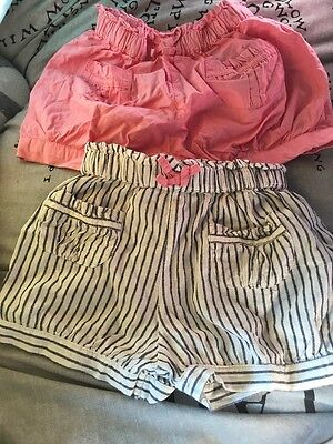 2 Pair baby girls shorts 12-18 months