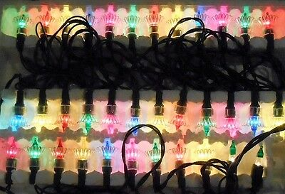Vtg 70's Sears Reflector Christmas Xmas Miniature Light Set 35-Multi Color-10C
