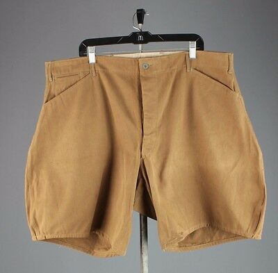 Vtg WWI Deadstock Duck Canvas Uniform Button Fly Shorts sz XL #3079 NOS Unworn
