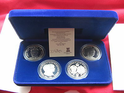 *SCARCE B-UNC 1981 CHARLES & DIANA DELUXE CROWNS MEDALS SET Only 10,000 Issued