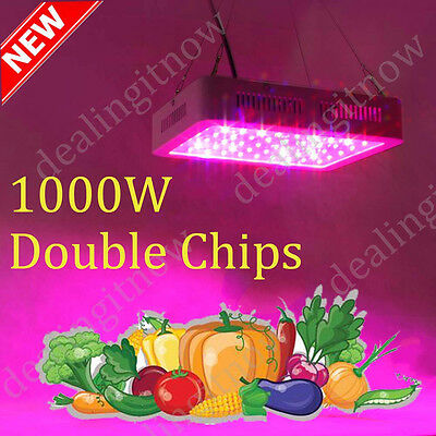 Useful 1000W Double Chips LED Grow Light Lamp Full Spectrum For Flower  Plants