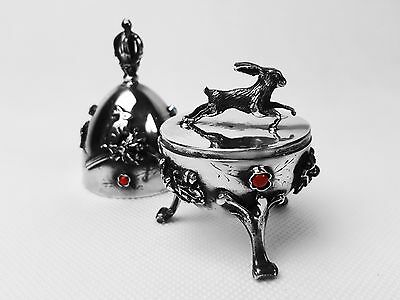 Antique Imperial Russian Silver 84 Jewish Egg Rabbit COLLECTION SALE!