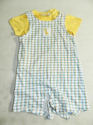 First Impressions Baby Boys Overall / Shirt 2 Piece Set Yellow NWOT Size 18M