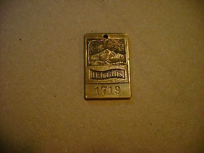 Vintage Brass or Bronze Harrah's Casino Hotel Room Key Chain Fob