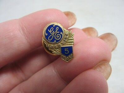 Vintage 5 years of Service employee pin from GE General Electric