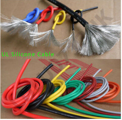 5M UL Stranded Silicone Wire Flexible RC Cable 12/14/16/18/20/22/24/26/28/30AWG