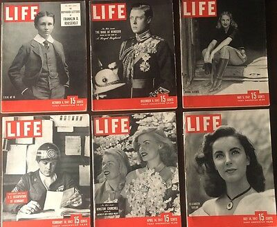 Vintage LIFE MAGAZINE Lot of 6 Issues From 1947