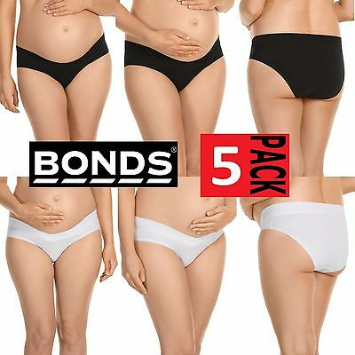 5 x BONDS WOMENS MATERNITY BUMPS BIKINI UNDERWEAR WHITE BLACK PREGNANT PANTIES