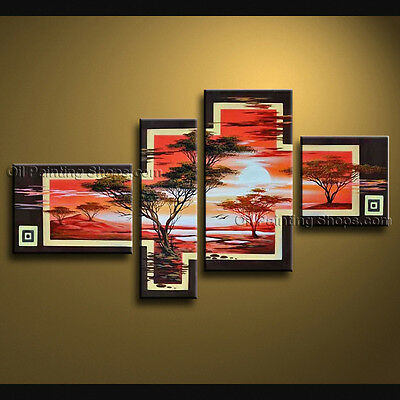 Large Contemporary Wall Art Landscape Painting Tree On Canvas Artworks