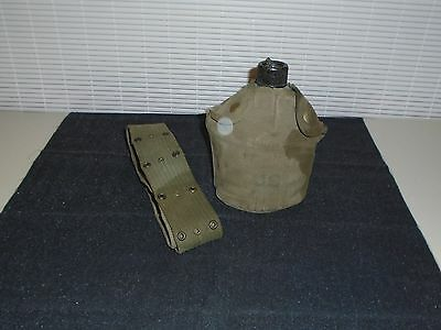 ww2 WWII us u.s. army canteen scarce khaki cover pattern dated 1944