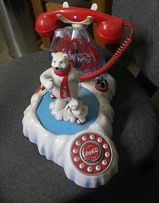 Coca Cola Polar Bear COKE Phone Collectible Cubs Musical Authentic Classic