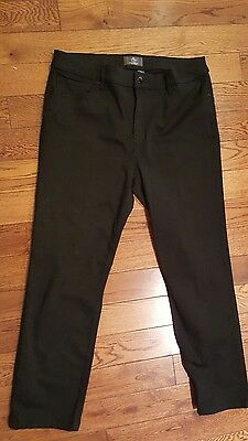 Chico's - So Lifting - Stretch Black Jersey Straight Leg Pants Size 2