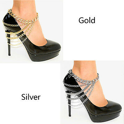1 Piece Multi-layer Chain High Heel Shoe Foot Ankle Beach Foot Jewelry