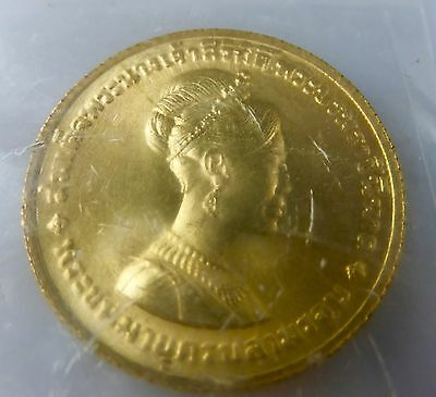 1968 Gold 300 Baht, Thailand-Queen SinKit 36th Birthday Orig. Sealed