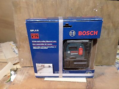 BOSCH GPL 5 R 5-Point Self Leveling Aligntment Laser Level NEW