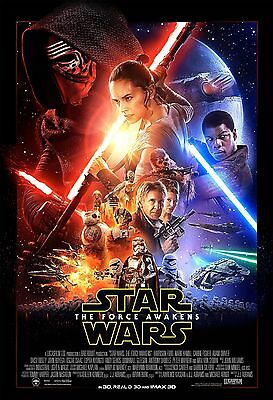 """STAR WARS THE FORCE AWAKENS 13""""x19"""" MOVIE POSTER"""