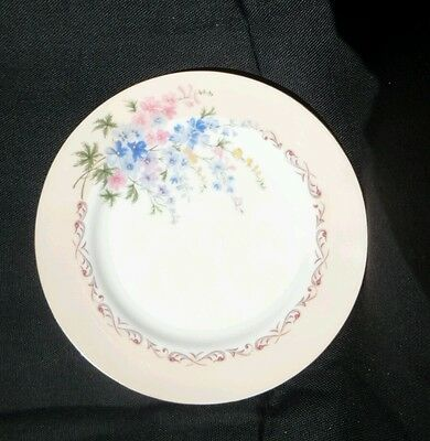Vintage AYNSLEY Pastel Pink Side plate Bread and butter plate England